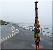 SH8678 : Millennium milepost along the Wales Coast Path by Mat Fascione