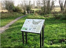 TG2105 : Information board by the entrance to Marston Marsh by Evelyn Simak