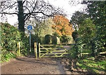 TG2105 : Gate on Marston Lane by Evelyn Simak