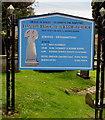 SS9668 : Information board in St Illtud's churchyard, Llantwit Major by Jaggery