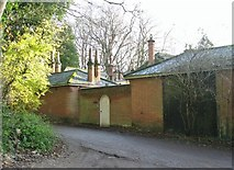 TG2105 : Marston Lane past Harford Hill Cottage by Evelyn Simak