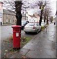 SO0428 : Victorian pillarbox alongside Watton, Brecon by Jaggery