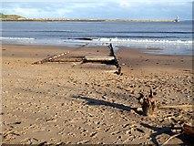 NZ3668 : Old slipway on Little Haven Beach by Oliver Dixon