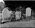 NO8198 : Primitive gravestone, Drumoak (Dalmaik) old kirkyard by Bill Harrison