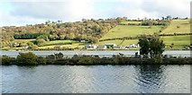 J1021 : View across the Middlebank to settlement on the A2 in Co Down by Eric Jones