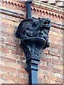 SK6464 : Rufford Abbey – rainwater head on the stable block by Alan Murray-Rust