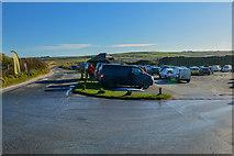 SW5842 : Gwinear-Gwithian : Godrevy National Trust Car Park by Lewis Clarke