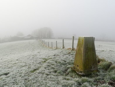 SK1160 : Frosty morning at Bank Top Trig Point near Hartington by Colin Park