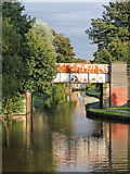 SJ8934 : Railway Bridge over the canal at Stone, Staffordshire by Roger  Kidd