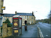 SE1734 : Phone box on Otley Road by Stephen Craven
