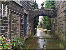 SD9828 : Archway at Churchyard Bottom, Heptonstall by Phil Champion
