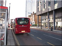 TQ2081 : 218 bus outside North Acton tube station by David Hawgood