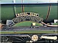 SH7977 : The name plate of The Royal Scot by Richard Hoare