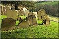 ST7469 : Headstones, Langridge churchyard by Derek Harper