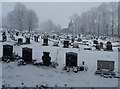 SE1823 : Liversedge Cemetery on a snowy day by habiloid