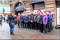 NT2574 : Christmas choir, Rose Street Edinburgh by Jim Barton