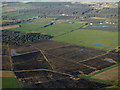 NS4565 : Farmland near Glasgow Airport from the air by Thomas Nugent
