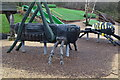 SU1202 : Giant insects play equipment, Avon Heath Country Park by David Martin