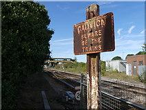 TL4197 : March station LNER sign by John Kingdon