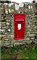 SS8578 : King George V postbox in a Tythegston wall by Jaggery