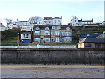 TA1280 : Filey Coastguard Rescue Station and houses on The Beach Road by JThomas