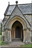 TQ1450 : Ranmore Common, St. Barnabas Church: South porch by Michael Garlick