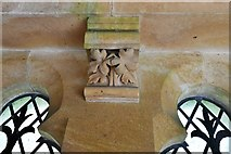 TQ1450 : Ranmore Common, St. Barnabas Church: South porch roof corbel 2 by Michael Garlick