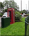 ST1597 : Green and red in Pengam by Jaggery
