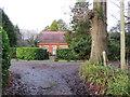 TQ3840 : Footpath on driveway near East Grinstead by Malc McDonald