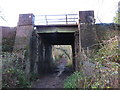 TQ3942 : Bridge over footpath near Dormansland by Malc McDonald