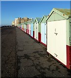 TQ2804 : Beach Huts, Kings Esplanade, Hove by Simon Carey