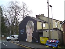 SD8203 : Mural near Heaton Park by Gerald England