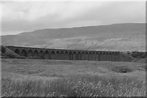 SD7579 : Ribblehead Viaduct: the black and white view... by Bill Harrison