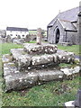 SN1607 : Church Cross base at St Elidyr's by Richard Law