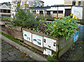 SE1422 : Plant box next to the towpath, Brighouse by Humphrey Bolton