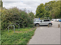 SU4828 : Cycle parking at Garnier Road car park, near St Catherine's Hill by Phil Champion
