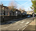 SO2914 : Zebra crossing, Chapel Road, Abergavenny by Jaggery