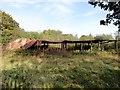 NZ2551 : Derelict sheds by Robert Graham