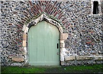 TG2309 : St Helen Bishopgate - door into Derlyngton's Tower by Evelyn Simak