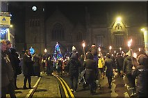 NT2540 : Peebles Torchlight Procession, Hogmanay (3) by Jim Barton
