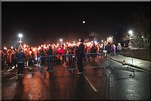NT2540 : Peebles Torchlight Procession, Hogmanay (4) by Jim Barton