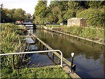SU6570 : Pillbox at North-West Corner of Garston Lock by Jo Turner