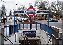 TQ3287 : Manor House Station : entrance by Julian Osley