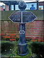 SJ8397 : Marker Post at the Junction of the Rochdale and Bridgewater Canals by David Dixon