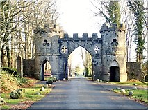 J3532 : The Barbican Gate at Tollymore Forest Park by Eric Jones