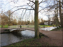 TQ2668 : Bridge over the River Wandle, Morden Hall Park by Malc McDonald