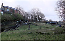 SE1115 : Milnsbridge Wharf, Huddersfield Narrow Canal by habiloid