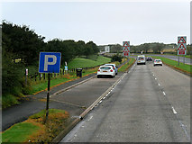 NS3528 : Layby on the A79 near Prestwick Airport by David Dixon