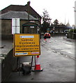 SO6303 : Lydney Cycleway Improvements sign, Bream Road, Lydney by Jaggery