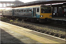 SS7597 : Swansea train at Neath station platform 1 by Jaggery